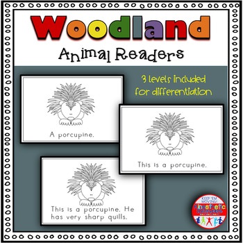 Woodland Animals - A Differentiated Set of Emergent Readers