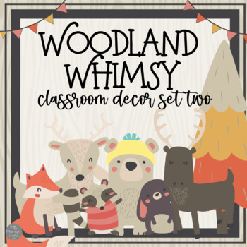 Woodland Animals: A Walk in the Woods Classroom Decor Set Two