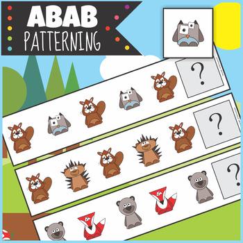 $1 Woodland Animals ABAB Patterning Activity