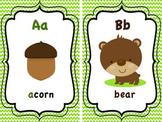 Woodland Animals Alphabet Cards