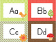 Woodland Animals Theme Alphabet Cards