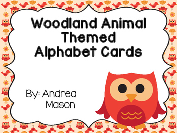 Woodland Animals Theme Alphabet Cards