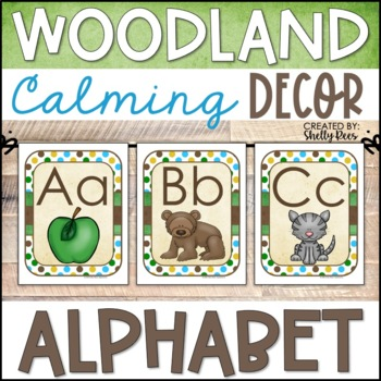 Woodland Theme Alphabet Line (Print and Cursive)