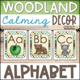 Woodland Animals Classroom Decor Alphabet Line (Print and Cursive)