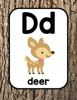Woodland Animals Alphabet Posters