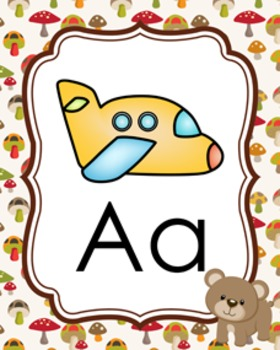 Woodland Forest Animals Alphabet Posters A-Z