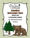 Woodland Animals Alphabet Scavenger Hunt: Upper and Lowerc