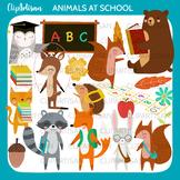 Woodland Animals Back to School Clip Art, Forest School