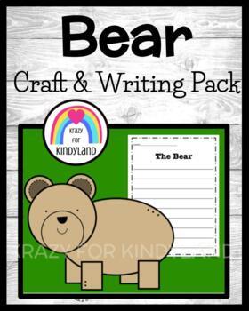Woodland Animals: Bear Craft and Writing