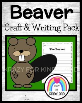 Woodland Animals: Beaver Craft and Writing
