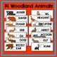 Woodland Animal Beginning Letter Match Literacy Center