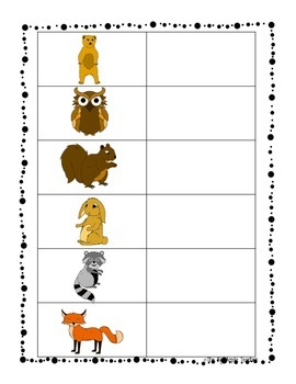 Woodland Animals Beginning Sound Matching