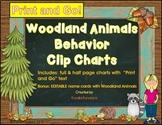 Woodland Animals Behavior Clip Chart - Print and Go