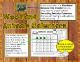 Woodland Animals Behavior Clip Chart Calendars 2017-2018