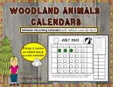Woodland Animals Behavior Clip Chart Calendars 2018-2019 (Print and Go)