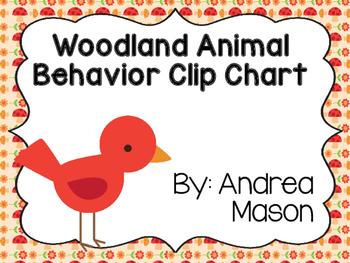Woodland Animals Theme Behavior Clip Chart