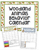 Woodland Animals Behavior Clip Chart and Monthly Calendar