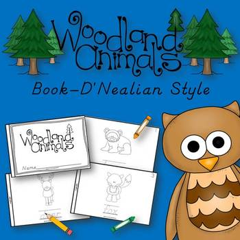 Woodland Animals Book for Kindergarten and 1st Grade {D'Nealian Style}