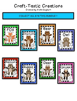 Woodland Animals Bundle Craftivity and Printables