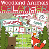 Woodland Animals Calendar Editable