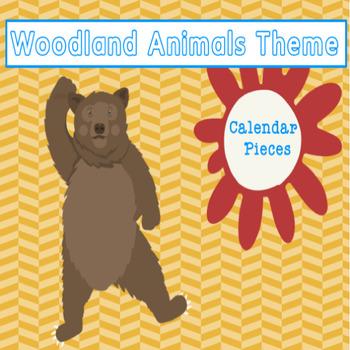 Woodland Animals Calendar Pieces