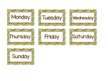 Woodland Animals Calendar Set