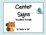 Woodland Animals Center Signs