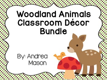 Woodland Animals Theme Bundle