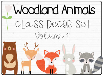 Woodland Animals Classroom Decor Bundle: Volume 1
