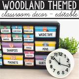 Camping Theme Classroom Decor Editable, Woodland Animals Classroom Decor