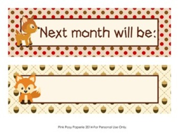 Woodland Forest Animals Classroom Decor Monthly Calendar Headers