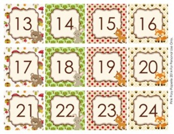 Woodland Forest Animals Classroom Decor Monthly Calendar Numbers