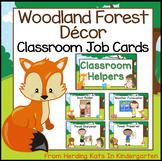 Woodland Animals Classroom Job Signs