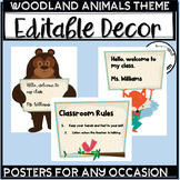 Forest Animals Decor Woodland Animals Classroom Theme Editable Signs