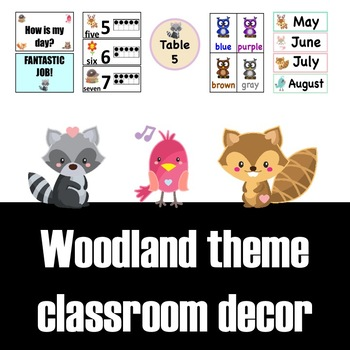 Woodland Animals Classroom Theme and Decor