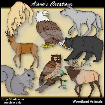 Woodland Animals Clip Art Pack