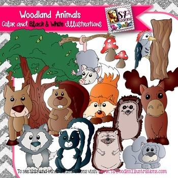 Woodland Animals Clip art
