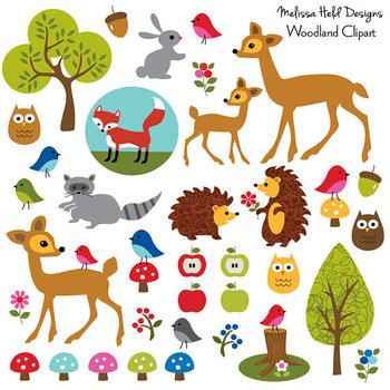 Clipart: Woodland Animals Clip Art