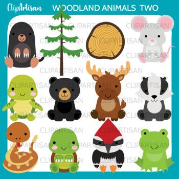 Woodland Animals Clipart Set 2