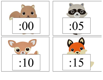 Woodland Animals Clock Numbers