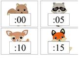 Woodland Animals Clock Numbers