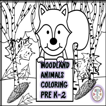 Woodland Animals Coloring