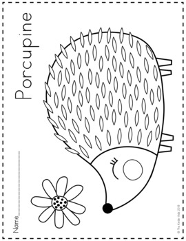 Woodland Animals Coloring Pages By The Kinder Kids Tpt