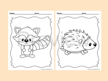 woodland forest animals coloring pages 8 designs fox included. Black Bedroom Furniture Sets. Home Design Ideas