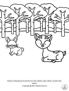 Woodland Animals Coloring Sheet