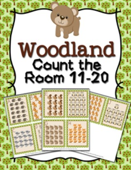 Woodland Animals Teen Numbers Count the Room 11-20