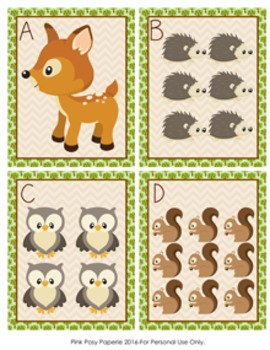 Woodland Animals Count the Room 1-10