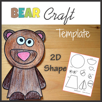 Bear Craft Template -  Cut and Paste