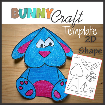 Woodland Animals Craft Bunny - Rabbit - Template Cut and Paste