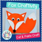 Woodland Animals Craft Fox -Cut and Paste Template -Fox Craft